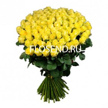 101 желтая роза